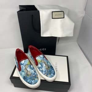 Gucci Supreme Bloom Slip On Sneakers Sz 34